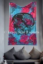 Indian Yin Yang Dragon Tapestry Tie Dye Wall Hanging Ethnic Cotton Beach Blanket