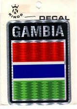 Set of 2 Gambia Car Decals, BRAND NEW FACTORY SEALED (Kings International)