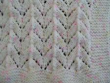 Easy to knit Horseshoe baby blanket pattern in DK