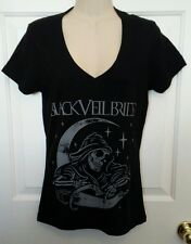 BLACK VEIL BRIDES WOMENS SMALL V-NECK BLACK SHORT SLEEVE SHIRT NEW WITH TAG