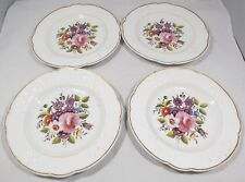 SET OF FOUR ANTIQUE VICTORIAN HAND-PAINTED POTTERY CABINET PLATES ENGLISH