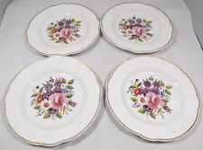 Set of 4 Antique Victorian Hand-Painted Pottery Cabinet Plates English