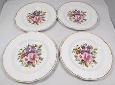 Conjunto de 4 Antiguo Victoriano Armario de cerámica pintada a mano placas inglés
