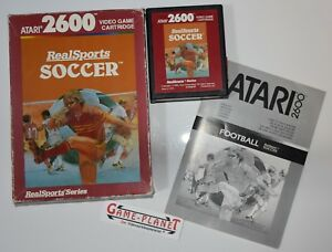 RealSports Soccer (Red Label) Atari VCS 2600 OVP / Anleitung / Modul / Europa