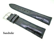 Genuine Alligator,Crocodile Leather Wrist Watch Band,Band 19mm Blue Of