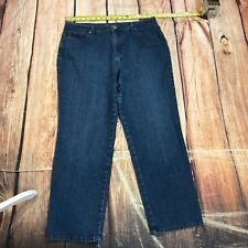 Style & Co Women Jean Natural Fit Tapered Leg Blue Wash Size 16S Blue Denim C12