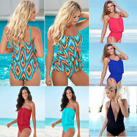 Women's Sexy Bikini One Piece Monokini Tankini Ladies Bodysuit Swimsuit Swimwear