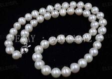 8-8.5mm Weiß Akoya Perlen-Halskette 46cm