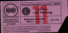 Ticket II. BL 87/88 Fortuna Düsseldorf - SC Freiburg