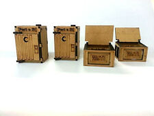 Infinity the Game 28mm Port o lit and Dumpster x 2 Miniature games MDF Terrain