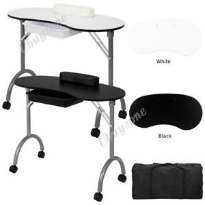 Portable Manicure Nail Table Station Desk Spa Beauty Salon Equipment with Bag