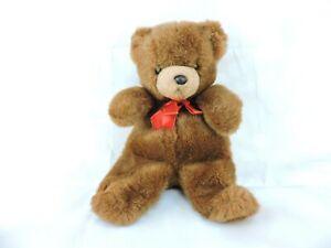 Vintage Applause Teddy Bear Stocking Plush Stuffed Animal 1986 Reversible Xmas