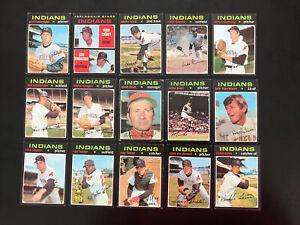 1971 Topps #347 Ted Uhlaender Tarjeta de béisbol de los Indios de Cleveland