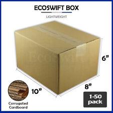 1 50 10x8x6 Ecoswift Cardboard Packing Mailing Shipping Corrugated Box Cartons