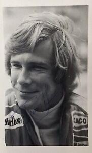 JAMES HUNT AUTHENTIC SIGNED F1 PHOTO AFTAL#198