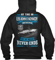 Stylish Uss John F. Kennedy Cv-67 - My Time On May Be Gildan Hoodie Sweatshirt