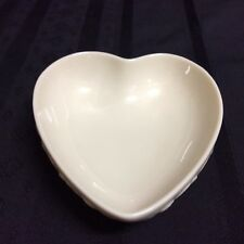 Vintage Lenox heart shaped candy dish w/ floral side decorations (Zz X2)