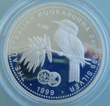 1999 Kookaburra 1932 Florin Privy 2oz Silver Coin Perth Mint, no box