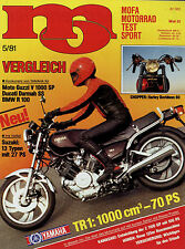 mo 5/81 1981 Hecker H2 Hercules Supra 2D Honda RS 125 RW Yamaha TR 1 Maico Guzzi