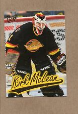 kirk mclean vancouver canucks 1996/97 ultra gold card g169