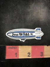 Vtg (?Rubber?Plastic? Patch) SEA WORLD SEAWORLD THEME PARK HBJ Blimp Patch 95X4