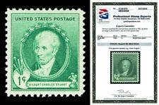 Scott 884 1940 1c Stuart Famous Americans Mint NH Graded Superb 98 w/ PSE CERT!