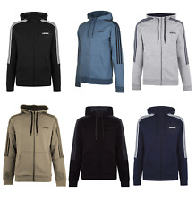 adidas Herren Kapuzenjacke Jacke Kapuzenpullover 3 Streifen Hoody Sport 033