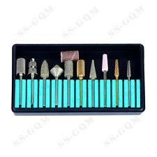 Nail Drill Bit Set for Electric Manicure Pedicure Machine Multiple Bits 11Pcs
