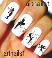 Tinkerbell Disney Silhouette Nail Art Water Decal Stickers Manicure Salon Polish