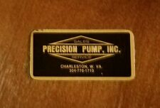 Precision Pump Mid-80's Hard Hat Coal Sticker Very Nice!