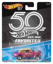 2018 Hot Wheels Favorites VOLKSWAGEN T1 Drag Bus 55 Chevy Bel Air Gasser 50th