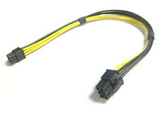 Mini 6 Pin Male To PCI-E 6 Pin Male Power Extension Cable Video Card 18AWG 27CM