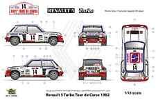 [FFSMC Productions] Decals 1/18 Renault 5 Turbo Tour de Corse 1982