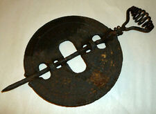 Antique Griswold American Pa 6 In Reversible Cast Iron Steel Spindle Flue Damper