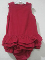 NWT Baby Gap Girls Pink Corduroy Ruffle Dress Sz 18-24m