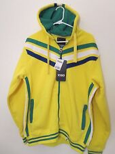 Men's Size L Hooded Zipper Jacket 80% OFF Fleece Lined Multi-Color New With Tags