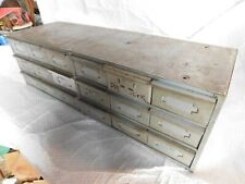 vintage industrial steel parts drawers chest tool box steampunk metal cabinet