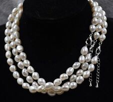 wholesale 8 strands 9*10-12mm Baroque freshwater pearl Necklace white or mix