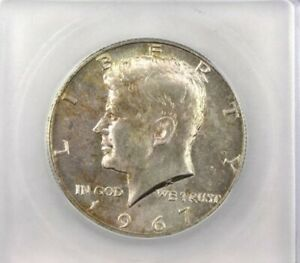 1967 KENNEDY SILVER 50 CENTS ICG MS 66