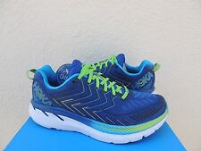 HOKA ONE ONE CLIFTON 4 TRUE BLUE/ GREEN RUNNING SHOES, US 15/ EUR 40 2/3 ~NEW