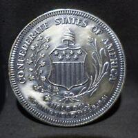 1961 NENA Sterling Silver Medal Token Confederate Half Reverse Design