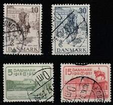 Denemarken gestempeld 1937 used 237-240 - Koning Christian X 25 Jaar