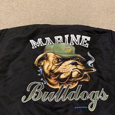VTG Marine Bulldogs Bomber Jacket Insulated Warm 1989 Deadstock Mens XL