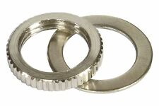 Toggle Switch Nut and Washer Metric Fine Knurl M12 x 1.25 - Niclel