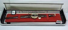 NOS New Antique Vintage BULOVA ACCUTRON Womens Wrist Watch 10k GP Original Box