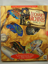 LucasArts Archives Vol. I (PC, 1995) Star Wars & Others PC-CD ROM Factory Sealed