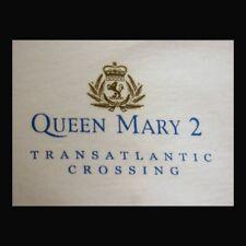 Queen Mary Qm2 Shirt M White Limited Edition Transatlantic Crossing England Usa