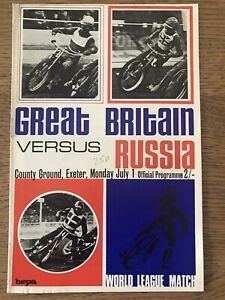 1968 Britain v Russia Speedway programme at Exeter. Blank