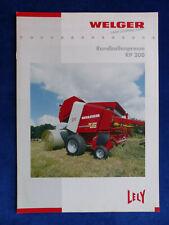 0632) Welger Rundballenpresse RP 200 - Prospekt Brochure 10.2002