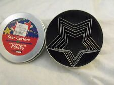 Fox Run Cookie Cutters, STARS, (Pack of 6) in Tin Container, NIP